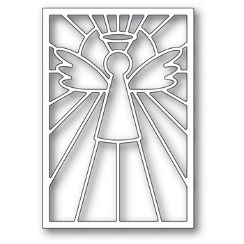 Poppy Stamps STAINED GLASS ANGEL Craft Die 2388