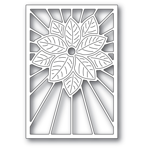 Poppy Stamps STAINED GLASS POINSETTIA Craft Die 2391 Preview Image