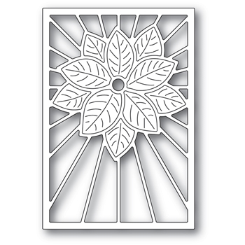Poppy Stamps STAINED GLASS POINSETTIA Craft Die 2391