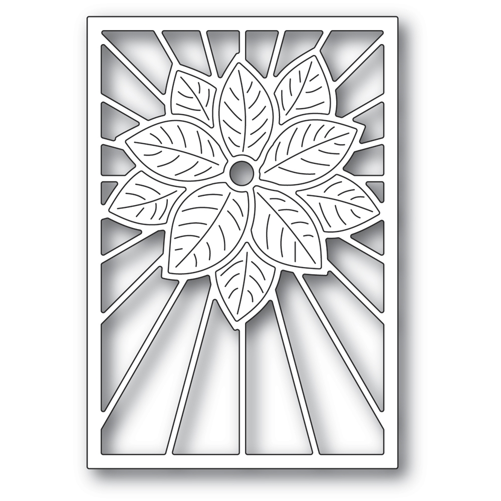 Poppy Stamps STAINED GLASS POINSETTIA Craft Die 2391 zoom image