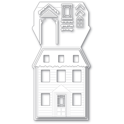 Poppy Stamps WINTER HOUSE POP UP EASEL SET Craft Dies 2394 Preview Image