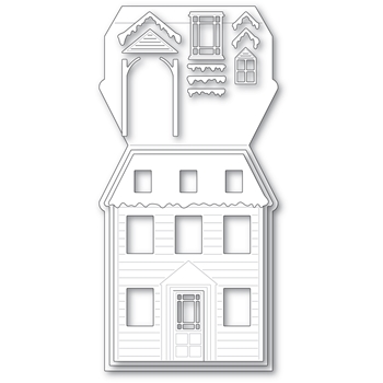 Poppy Stamps WINTER HOUSE POP UP EASEL SET Craft Dies 2394