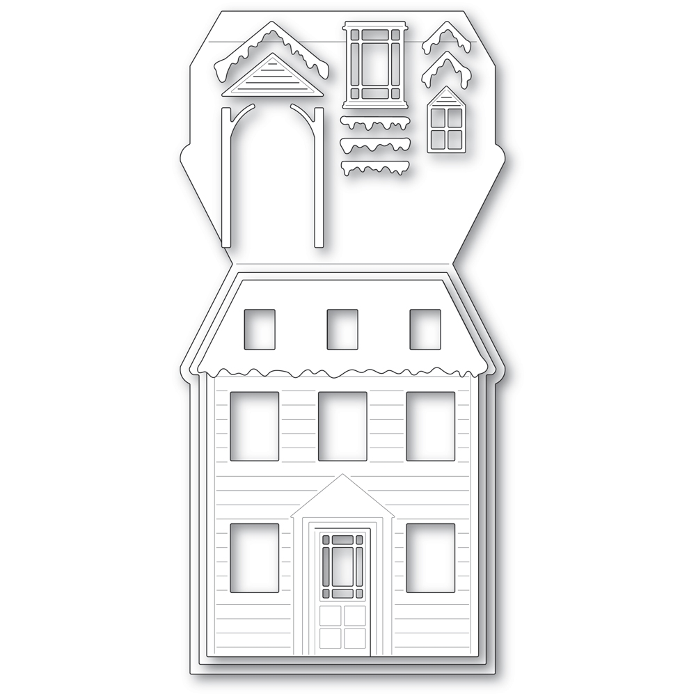 Poppy Stamps WINTER HOUSE POP UP EASEL SET Craft Dies 2394 zoom image