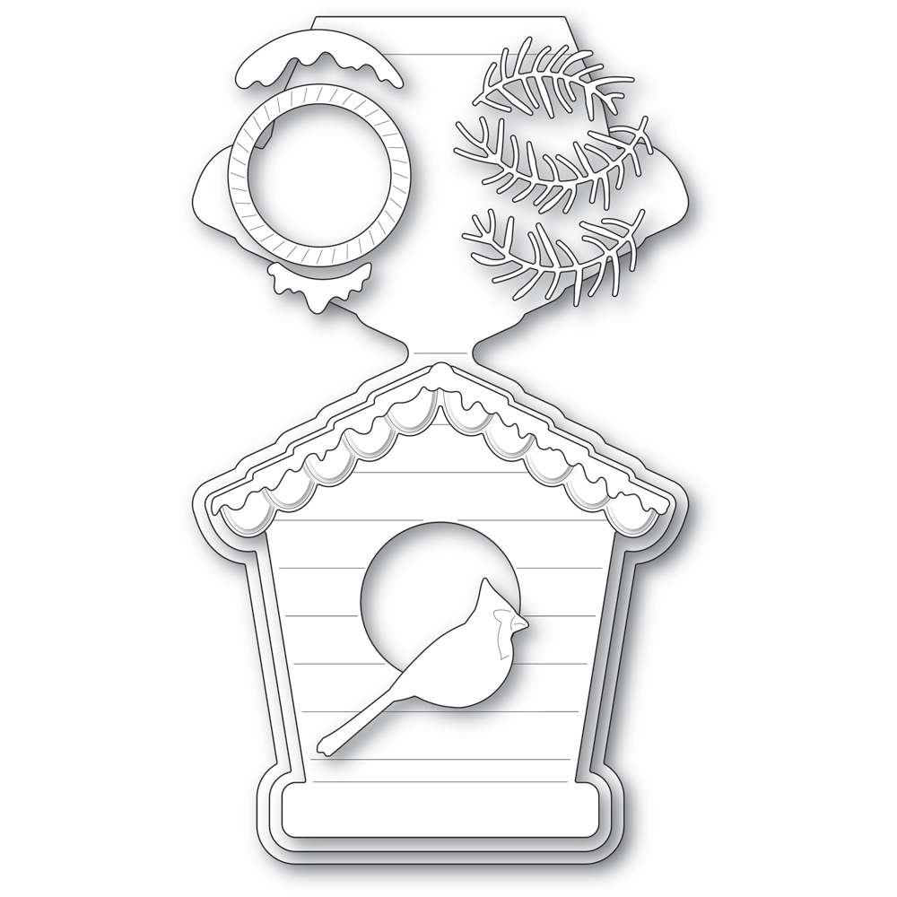 Poppy Stamps BIRD HOUSE POP UP EASEL SET Craft Dies 2396 zoom image