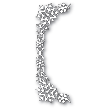 Poppy Stamps SNOWFLAKE TALL CURVE BORDER Craft Die 2400