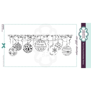 Creative Expressions BAUBLE GARLAND Cling Stamp umsdb021