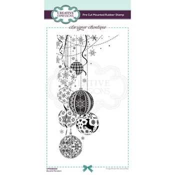 Creative Expressions BAUBLE PENDANT Cling Stamp umsdb022
