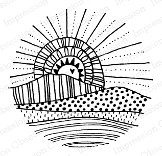 Impression Obsession Cling Stamp SUMMER SUN D12222 zoom image