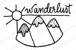Impression Obsession Cling Stamp WANDERLUST B12221
