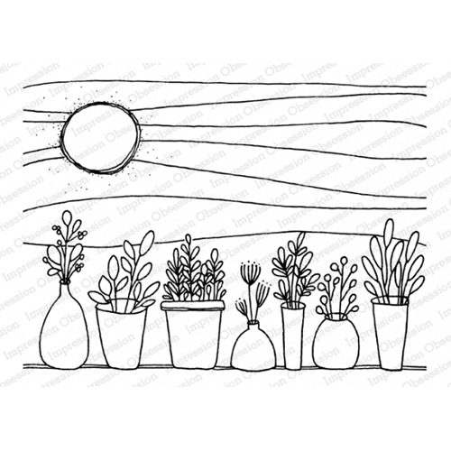 Impression Obsession Cling Stamp SUMMER HERBS J12223 Preview Image