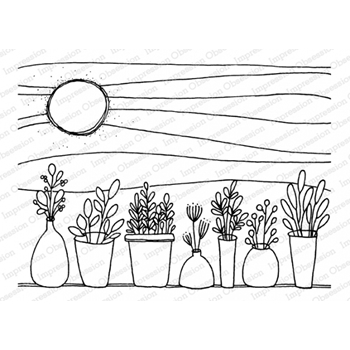 Impression Obsession Cling Stamp SUMMER HERBS J12223
