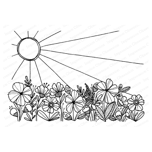 Impression Obsession Cling Stamp WILDFLOWER J12220 Preview Image