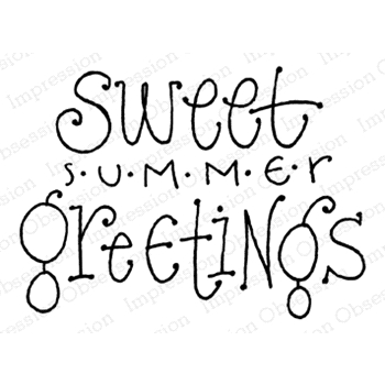Impression Obsession Cling Stamp SUMMER GREETINGS D12211