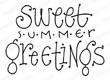Impression Obsession Cling Stamp SUMMER GREETINGS D12211 zoom image
