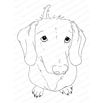 Impression Obsession Cling Stamp DACHSHUND H13915