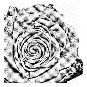 Impression Obsession Cling Stamp PIXEL ROSE Create A Card CC403