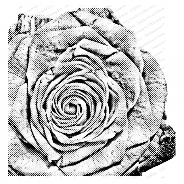Impression Obsession Cling Stamp PIXEL ROSE Create A Card CC403 zoom image