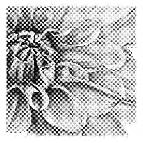 Impression Obsession Cling Stamp PIXEL DAHLIA Create A Card CC401 Preview Image