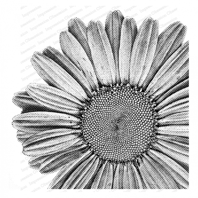 Impression Obsession Cling Stamp PIXEL DAISY Create A Card CC402 zoom image