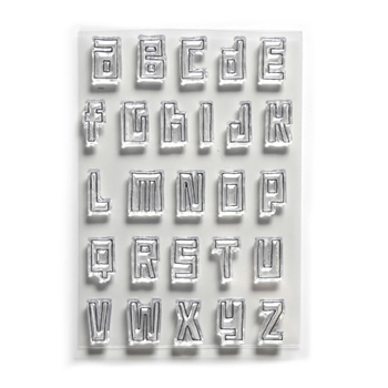 Elizabeth Craft Designs Clear Stamps BLOCK ALPHABET cs178