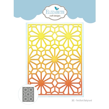Elizabeth Craft Designs FLORAL BURST BACKGROUND Craft Dies 1801