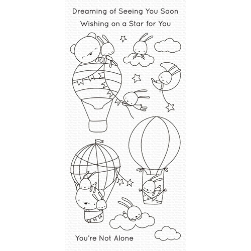 My Favorite Things SKY-HIGH FRIENDS Clear Stamps cs493 Preview Image