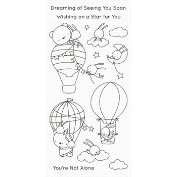My Favorite Things SKY-HIGH FRIENDS Clear Stamps cs493