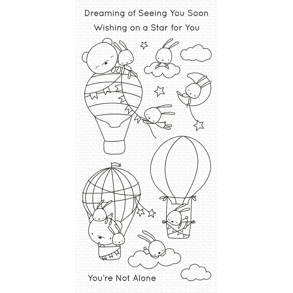 My Favorite Things SKY-HIGH FRIENDS Clear Stamps cs493 zoom image