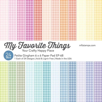 My Favorite Things PETITE GINGHAM 6x6 Inch Paper Pad 6006