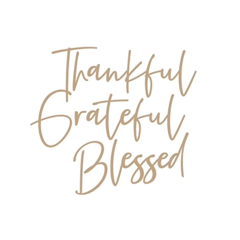 GLP-205 Spellbinders STYLISH SCRIPT THANKFUL Glimmer Hot Foil Plate