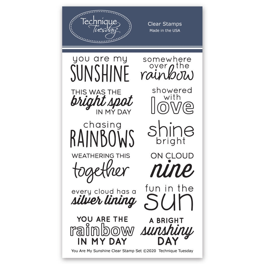 Technique Tuesday YOU ARE MY SUNSHINE Clear Stamps 8568 zoom image