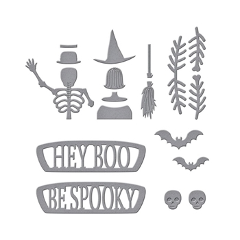 S3-403 Spellbinders HALLOWEEN SUNDAY DRIVE Etched Die Set