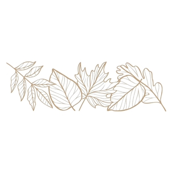 GLP-206 Spellbinders AUTUMN LEAF BORDER Glimmer Hot Foil Plate
