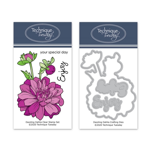 Technique Tuesday DAZZLING DAHLIA Clear Stamp and Die Set 8599 Preview Image