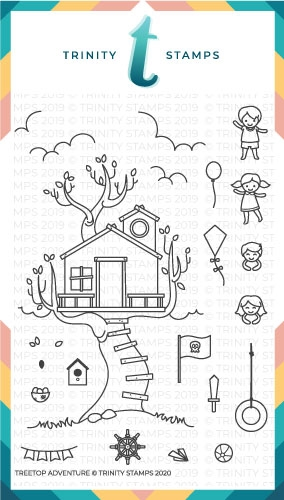 Trinity Stamps TREETOP ADVENTURE Clear Stamp Set tps062* Preview Image