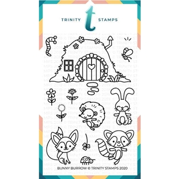 Trinity Stamps BUNNY BURROW Clear Stamp Set tps060