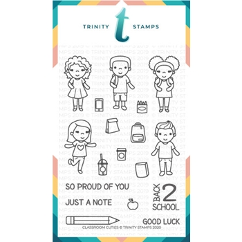 Trinity Stamps CLASSROOM CUTIES Clear Stamp Set tps063