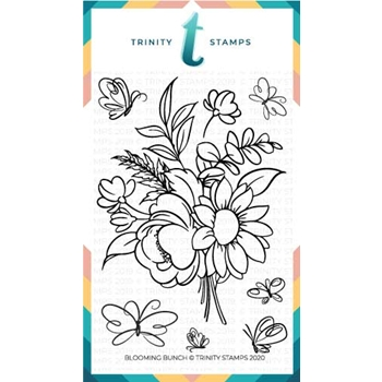 Trinity Stamps BLOOMING BUNCH Clear Stamp Set tps061