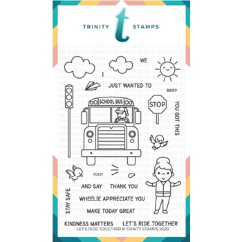 Trinity Stamps LET'S RIDE TOGETHER Clear Stamp Set tps064