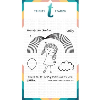 Trinity Stamps HANG ON Clear Stamp Set tps059