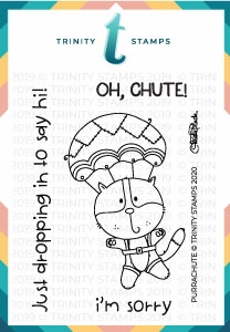 Trinity Stamps PURRACHUTE Clear Stamp Set tps058