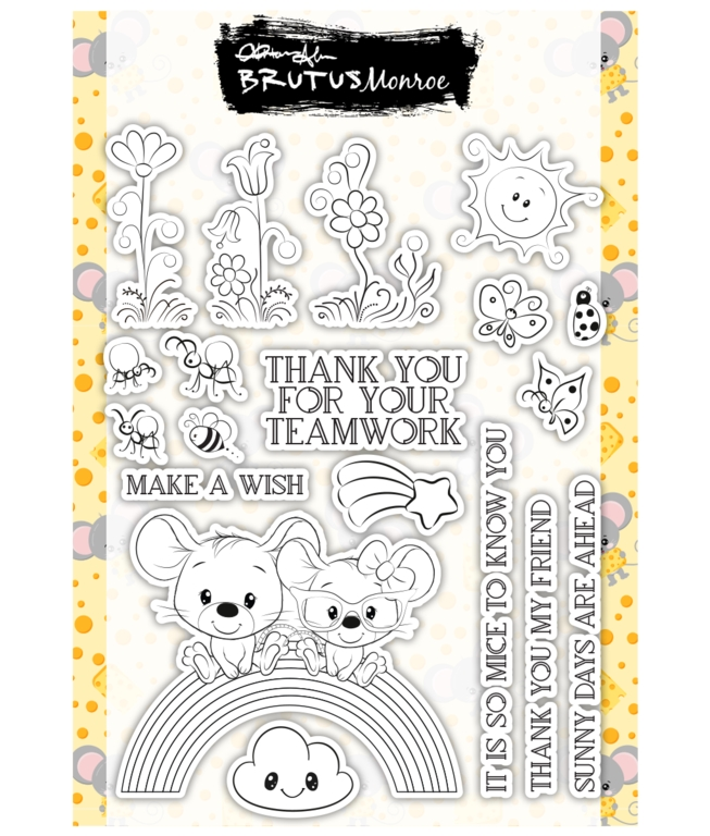 Brutus Monroe MOUSE FRIENDS Clear Stamps bru4723 zoom image