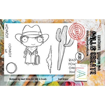 AALL & Create TRAIL BLAZER A7 Clear Stamp Set aal00381