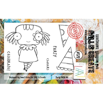 AALL & Create PARTY WITH ME A7 Clear Stamp Set aal00379