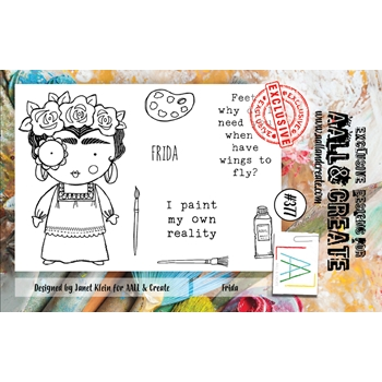 AALL & Create FRIDA A7 Clear Stamp Set aal00377