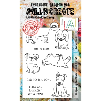 AALL & Create RESCUE PUPPIES A6 Clear Stamp Set aal00373