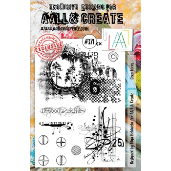 AALL & Create DEEP FOCUS A5 Clear Stamp Set aal00371