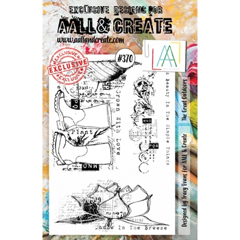 AALL & Create THE GREAT OUTDOORS A5 Clear Stamp Set aal00370