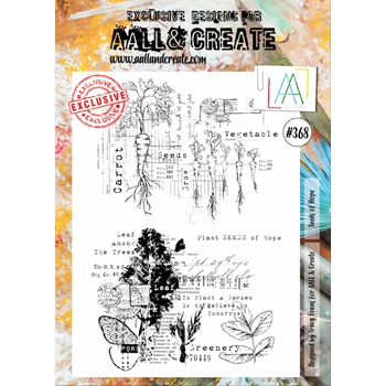 AALL & Create SEEDS OF HOPE A4 Clear Stamp Set aal00368
