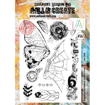AALL & Create TAKE FLIGHT A4 Clear Stamp Set aal00367